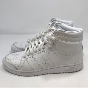 Adidas Hightop White Sneakers Size 9